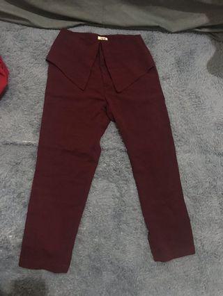 Loose Pants Maroon