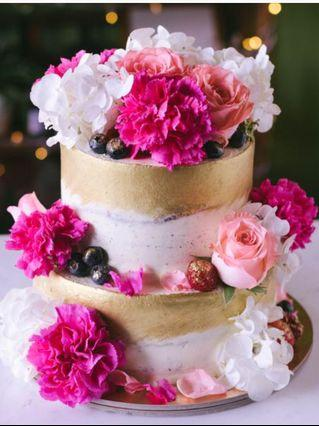 🚚 Wedding Dummy Tier Floral Cakes Flower ROM Cake
