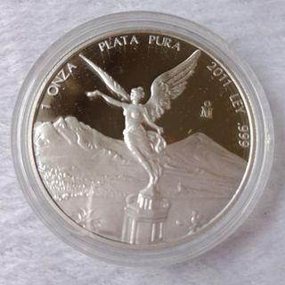 2011 Mexican Silver PROOF Libertad 1oz 99.9% Silver Coin - Mint Encapsulated