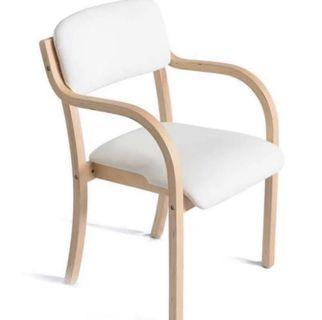 White cushioned chair 20% off