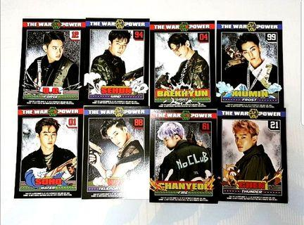 EXO The War Power album not-for-sell postcard