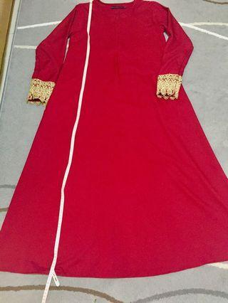 Imaan Boutique XS Maroon Abaya