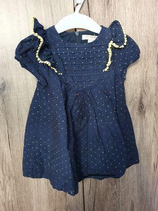 🚚 Blue dot dress