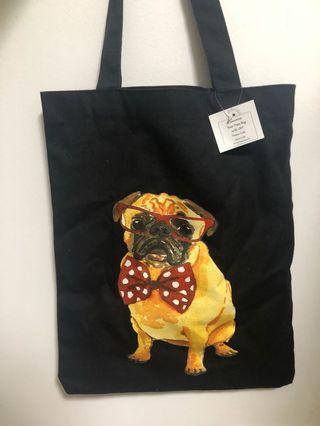 🚚 Pug Tote Bag
