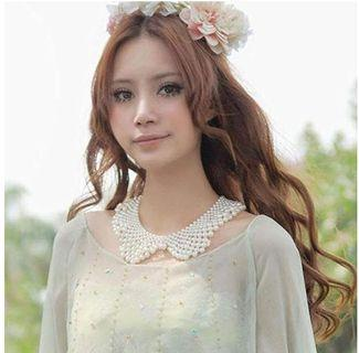 [FREE MAIL] Collar Necklaces Romantic Necklaces with Pearl  #MRTJurongEast #MRTRaffles