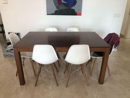 Dining Table and Six Dining Chairs