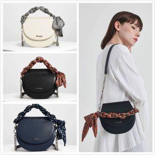 Charles & Keith saddie bow with twilly scaf