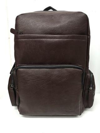 BACKPACK PU BROWN