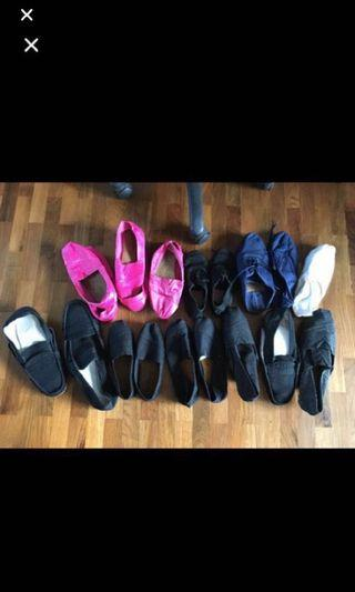 All @ $10 Unisex Daily flat shoes