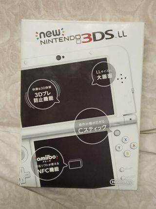 (NEW)3DS LL 日版原盒珍珠白+口袋妖怪Sun