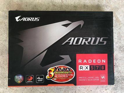 🚚 AMD RX570 Aorus card with warranty