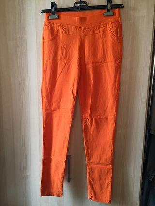 Orange Stretch Pants
