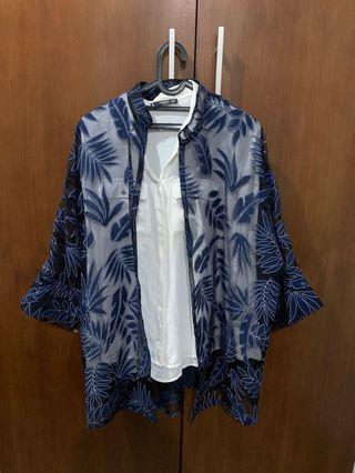 Paketan outer batik dan mango shirt