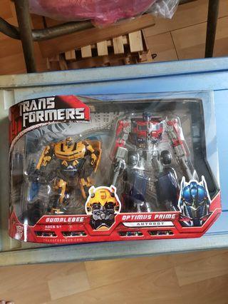 Transformers Movie Optimus Prime Bumblebee Giftset MISB