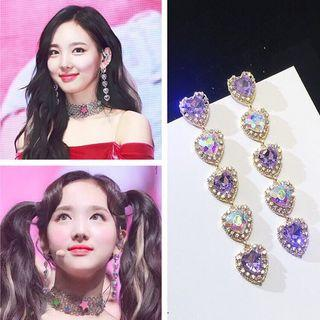 [ON HAND] TWICE heart Earrings