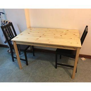 Ikea Dinning table with 2 chairs