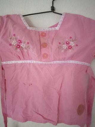 Atasan manik pink