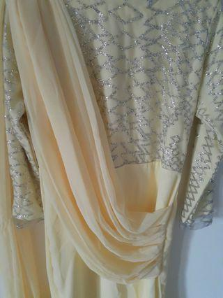 Light yellow draped dress