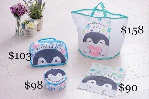 日本koupenchan 正能量企鵝 洗衫袋 水樽套 隔熱手套 訂購