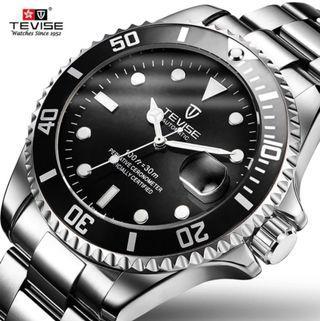 Jam tangan  Tevise Automatic  Submariner ORI