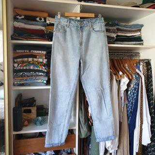 Glassons light wash high waisted mum style jeans