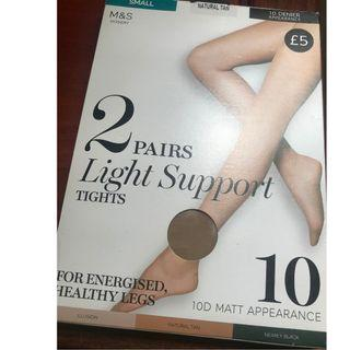 [100% New] Marks and Spencer 2 Pairs Light Support Tights