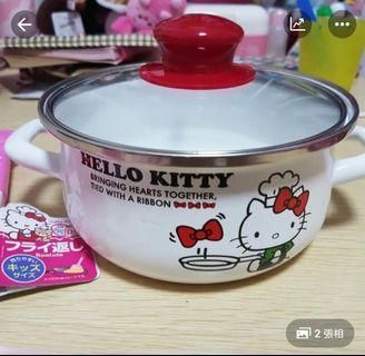 Hello Kitty 煲 16cm pots雙耳鍋 $100