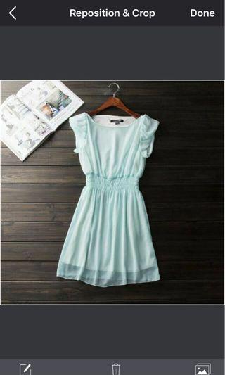Forever 21 green chiffon dress, no bargaining