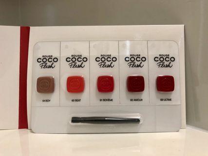 Chanel Rouge CoCo Flash Lipstick 透亮光感唇膏 5色x0.25g