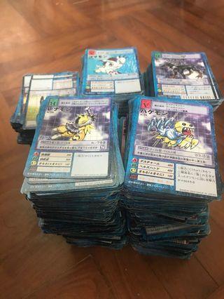 數碼暴龍卡 約2000 張普通白卡 賣或換其他野