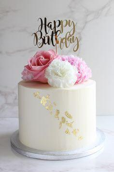 Petite Floral Cake Birthday Cake