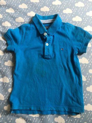 🚚 二手 Tommy Hilfiger 男童 藍色POLO衫