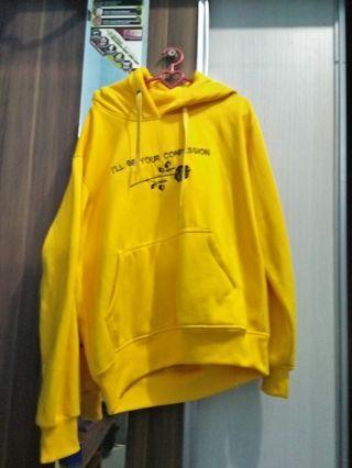 Yellow Hoodie pakaian wanita jaket