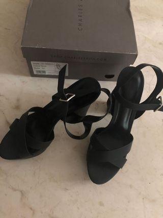 Charles & Keith Black Heels