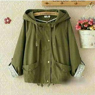 Outwear Jaket Parka Cewek Jacket Cewe Wanita Cafedo All Size no Sweater