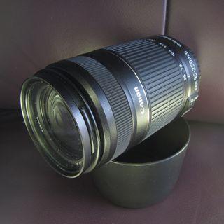 CANON (入門遠攝鏡) 55-250mm f4-5.6 ISII 送名廠保護UV鏡再送遮光罩及鏡頭保護袋再送三色漸變鏡  $850