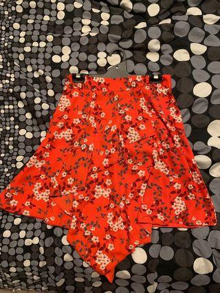CUE Floral Skirt size 10