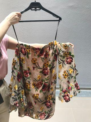 off shoulder dress #MRTJurongEast