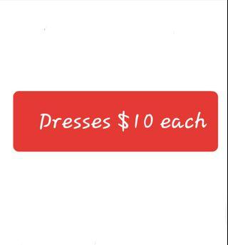 Dresses - various sizes