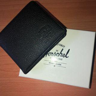 Authentic Black Leather Herschel Wallet