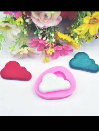 Silicone cake mold clouds