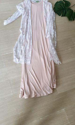SET DRESS+OUTER BRUKAT #ramadansale