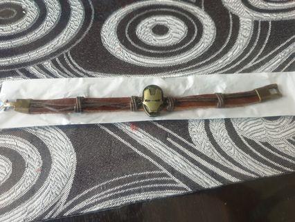 🚚 Iron man leather bracelet