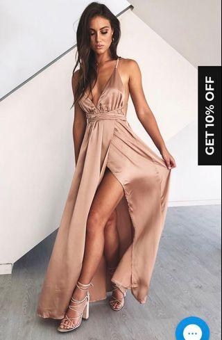 Beginning boutique Estelle Maxi Dress Blush