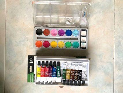 Art supplies! Acrylics and water colour