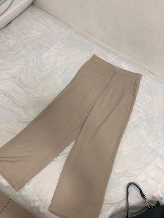 Palazzo khaki pants