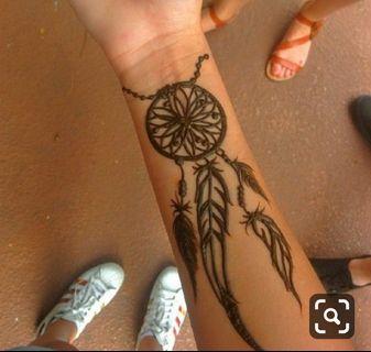 Dreamcatcher Henna tattoo
