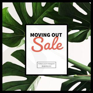 Moving Out Sale 22 May to 2 Jun