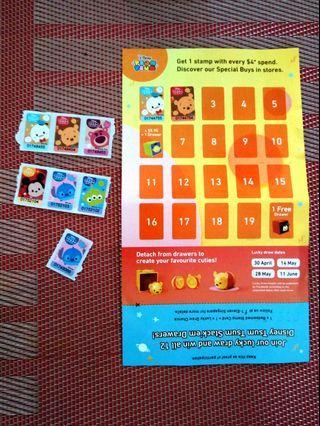 9 x 7Eleven Disney Tsum Tsum Drawers Stickers