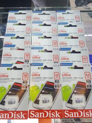 SanDisk Micro SD Card 80MB/s**